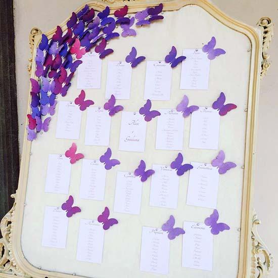 tableau matrimonio farfalle cornice