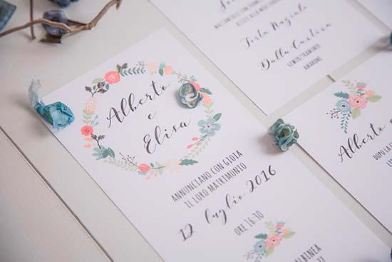 Partecipazioni Matrimonio Scritte.5 Partecipazioni Floreali Moderne E Originali Favolose