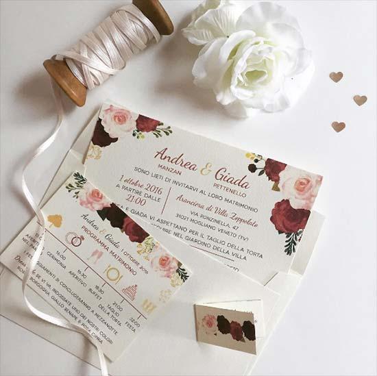 Partecipazioni Matrimonio Stile Vintage.5 Partecipazioni Floreali Moderne E Originali Favolose