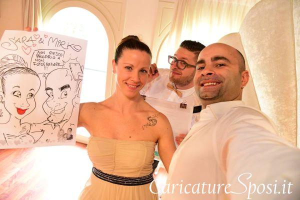caricature sposi matrimonio