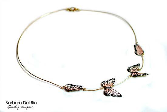 collane da sposa con farfalle