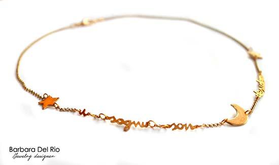 collane da sposa originali con scritta citazione disney