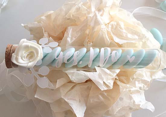 bomboniere economiche matrimonio provetta confetti