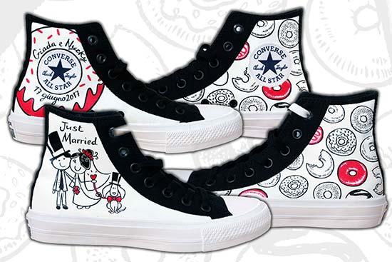 scarpe personalizzate matrimonio converse