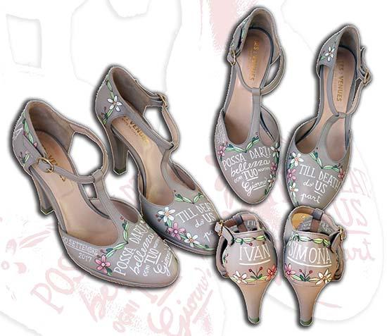scarpe personalizzate matrimonio scritte