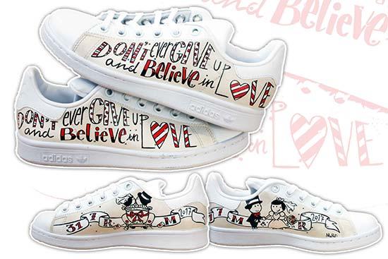 scarpe personalizzate per il matrimonio sneakers