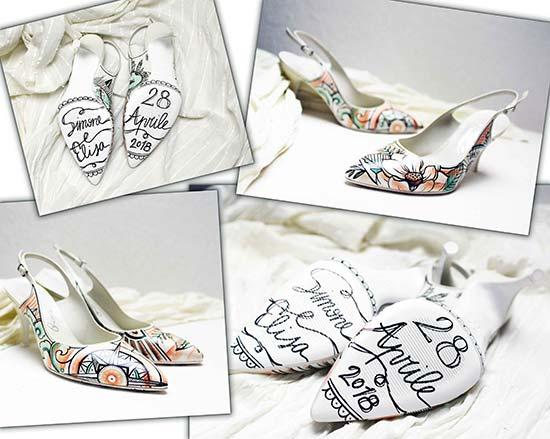 scarpe sposa personalizzate disegni suola