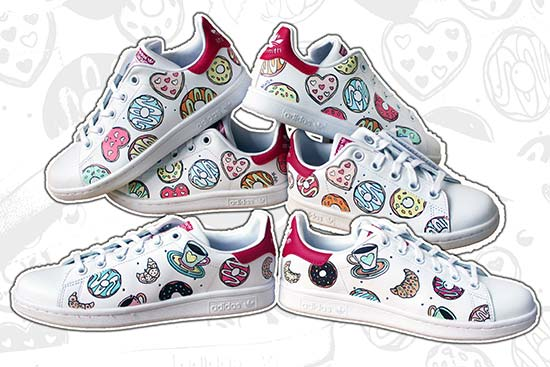 sneakers personalizzate per il matrimonio