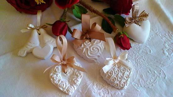 gessetti profumati segnaposto matrimonio cuori decorati