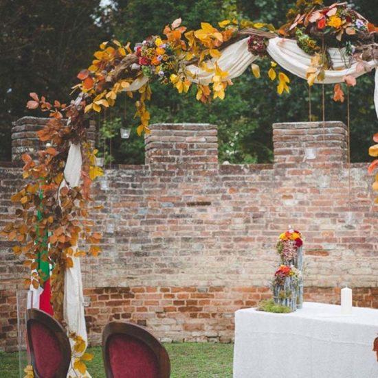 allestimenti matrimonio autunnale arco fiori