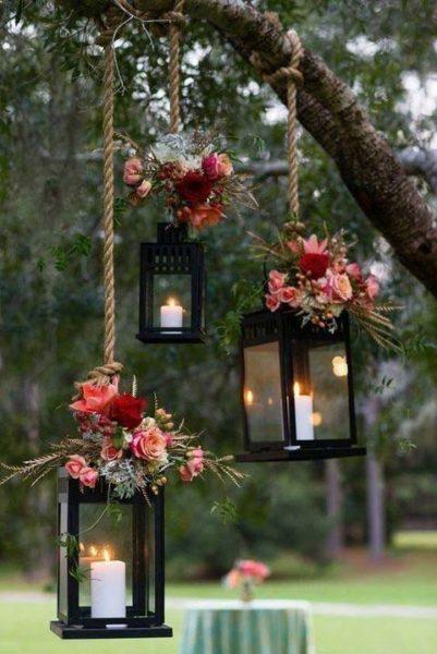 allestimenti matrimonio autunnale candele lanterne