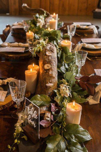 allestimenti matrimonio autunno tavola