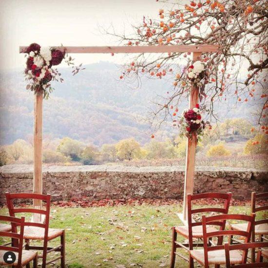 allestimento matrimonio autunnale arco fiori cerimonia