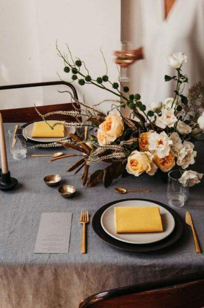 allestimento matrimonio autunno giallo