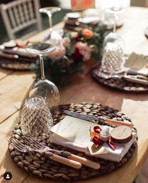 allestimento tavola matrimonio autunnale