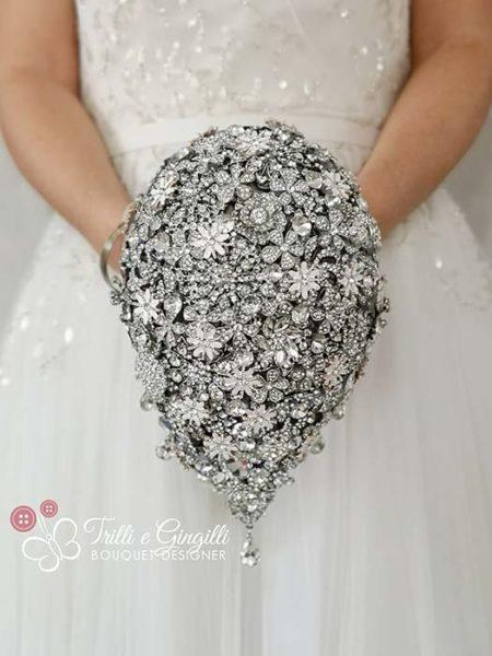 bouquet gioiello cascata