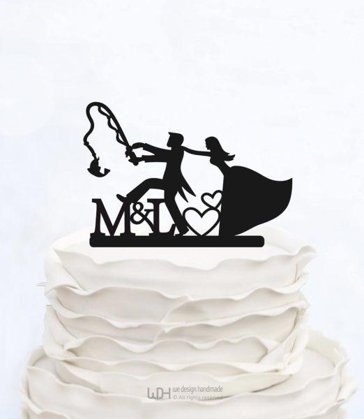 cake topper scritte personalizzate matrimonio simpatici