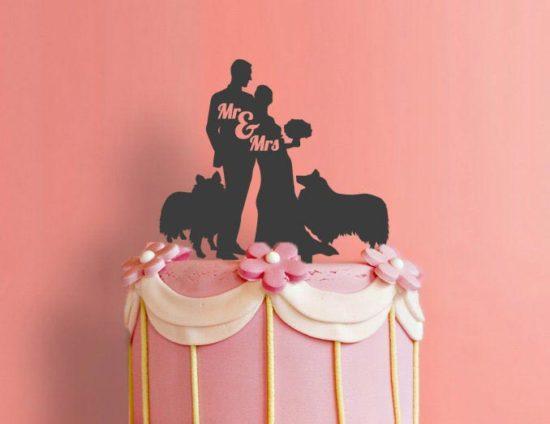 cake topper scritte personalizzate matrimonio sposi cani