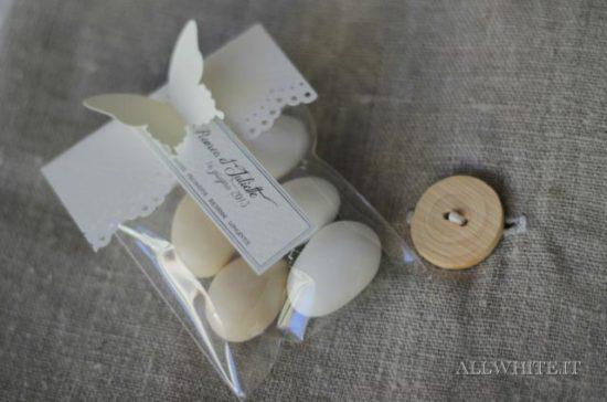 sacchetto portaconfetti nozze originale farfalla
