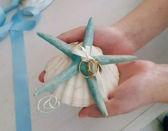 Conchiglia porta fedi con stella marina
