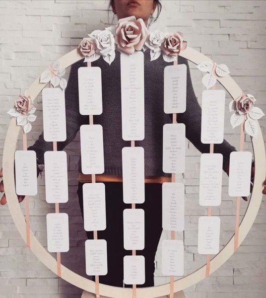 idee tableau matrimonio a tema fiori