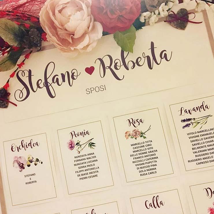 tableau mariage tema fiori