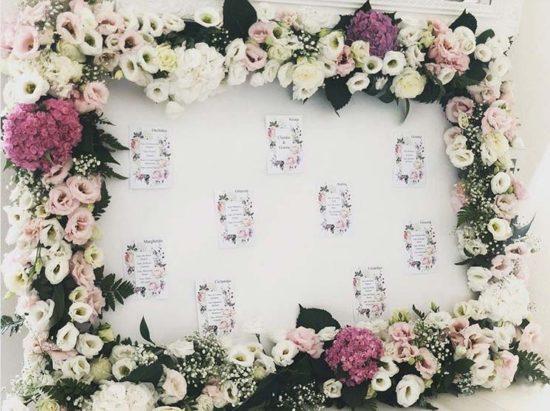 tableau nozze fiori