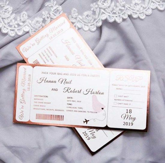 partecipazioni matrimonio a forma di biglietto aereo